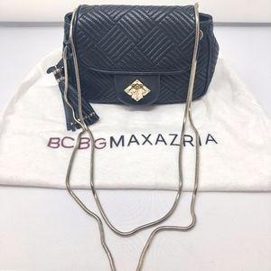 Black and Gold Leather BCBGMaxazria Cross Body